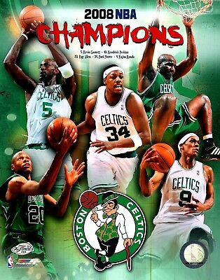 8 x 10 2008 Boston Celtics Then /& Now Composite Sports Photo