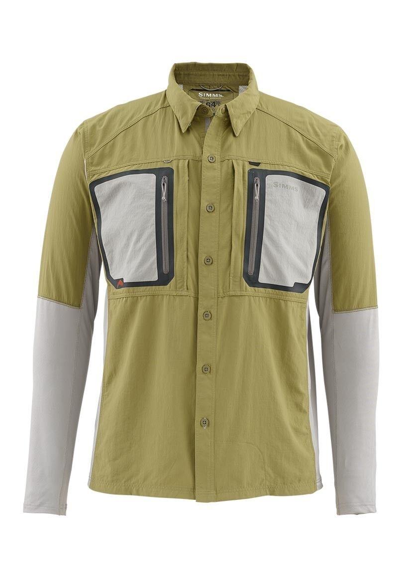 Simms Taimen Tricomp Long Sleeve Shirt Army verde Dimensione 2XL CLOSEOUT