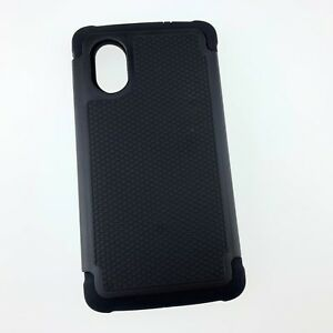 LG-Nexus-5-Hybrid-Hard-Armour-Impact-Shell-Silicone-Case-Cover-Black