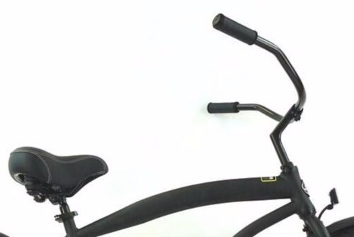 "Stainless Steel  Black Bicycle Handlebar 28/"" Wide Clamp Beach Cruiser Lowrider"