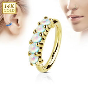 14K or Massif Opale Cerceau Nez Oreille Daith Rook Cartilage Lèvre Bague uNmvYUOY-08032741-922368358