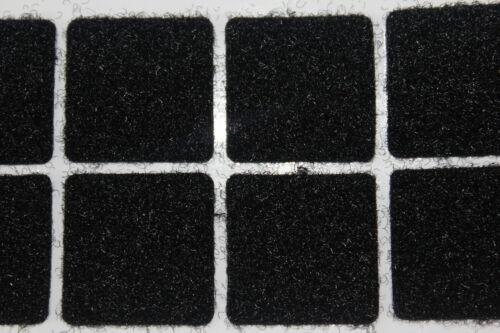 Self Adhésif Velcro Fastener Carrés 25 Mm X 50 paire en NOIR
