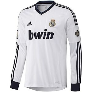 newest 59c3f 5ce52 Details about ADIDAS REAL MADRID LONG SLEEVE HOME JERSEY 2012/13