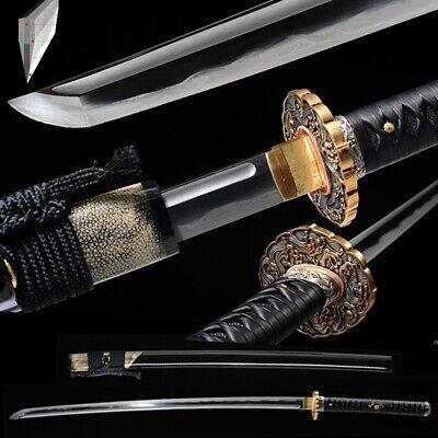 Clay Tempered T10 Folded Steel Japanese Samurai Sword Katana Sharp High Quality