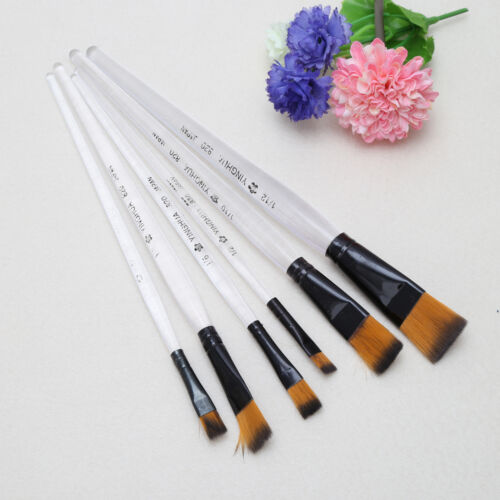 6Pcs Acrylic Oil Paint Brushes Set For Watercolor Painting Tool Artist Supplies