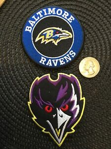 952bd6b280b3a2 Image is loading 2-BALTIMORE-RAVENS-VINTAGE-EMBROIDERED-IRON-ON-PATCHES-