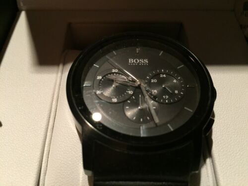 1 von 1 - Boss Hugo Chronograph 1512639 Silikonband Mineralglas 5 ATM Rechnung