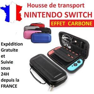 Housse-de-protection-sac-de-transport-EVA-CARBONE-pour-nintendo-switch-etui