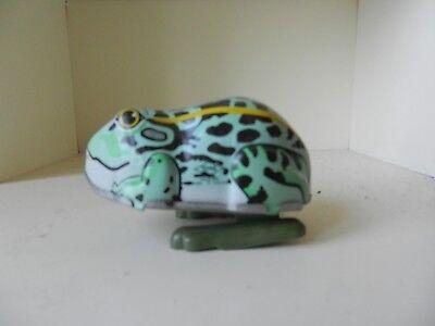 Blechspielzeug Zuversichtlich Hüpfender Frosch Blech Blechspielzeug Yone No 2125 Japan