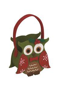 Feutre Panier Sac de fête Noël réveillon de Noël Bonbons Cadeaux Sac Hibou Cadeau