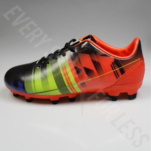 Lists @ $30 Black // Orange Vizari Venza FG Junior Soccer Cleats NEW