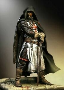 90mm-1-18-Templarios-sargento-13th-Century-90-mm-De-resina-Figura-MODELO-KIT