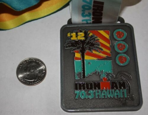 2012 IRONMAN HAWAII HONU TRIATHLON FINISHERS MEDAL 100%ORIGINAL