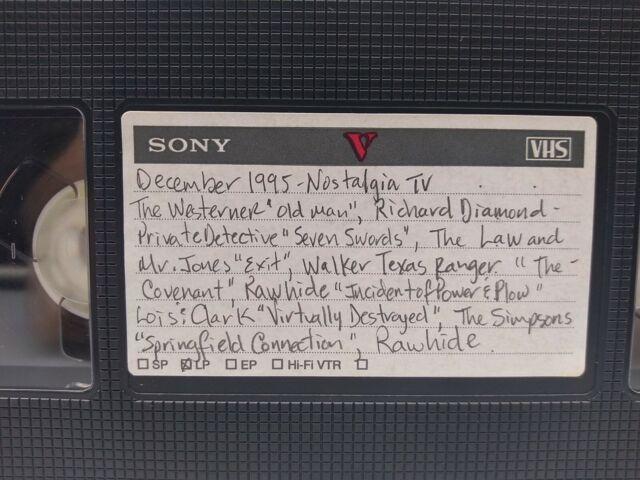VHS Sold as Blank 📼 1995 Nostalgia TV