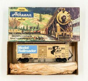 Athearn-HO-Ltd-Run-40-039-Boxcar-Model-Railroader-50th-Anniversary-Train-GOLD