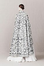 New Alexander McQueen One of a Kind Hand Embroidered Cape Dress - £28K