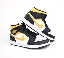 Nike Air Jordan 1 Mid белые пыльцы черные мужские & Gs 554724-177