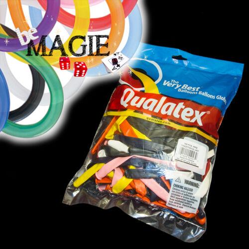 100 Ballons Qualatex TRADITIONNEL - 350 Q - Magie - sac sculpture