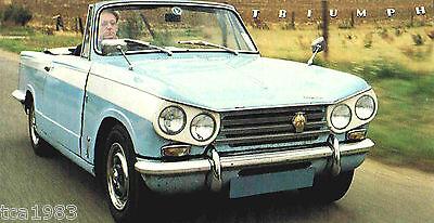 Broschüre/katalog 1969,1970 Hohe QualitäT Und Geringer Aufwand Initiative Triumph Vitesse Spezial Folie