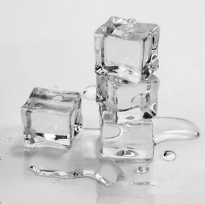 6fake faux acrylic ice cubes crystal clear square photo prop wedding display 4cm
