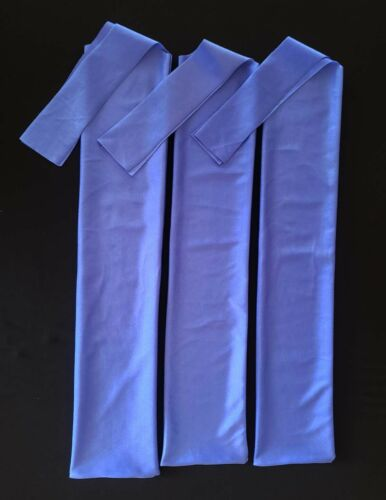 3 Light Blue One Size Fits All Qty Lycra Tail Bags for Horses