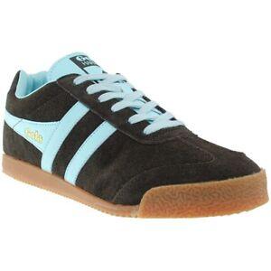 Scarpe-Uomo-Gola-Harrier-Marrone-Blu-Sneakers-Man-Brown-Blue