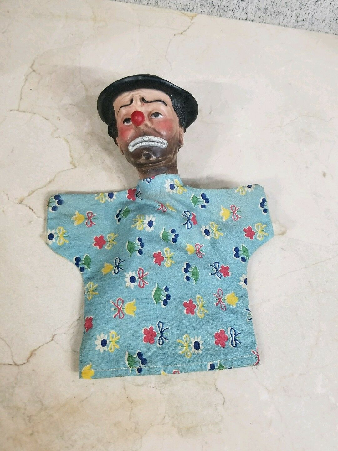 Vintage Extremely Rare Rare Rare Emmett Kelly Clown Puppet Doll 3416a2