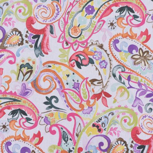 Belle Vie De Table Coureur Paisley Blanc Coloré 40x160cm