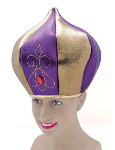 TALL PURPLE FANCY DRESS SULTAN HAT HATS