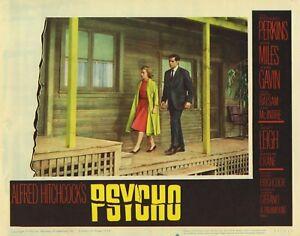 PSYCHO Alfred Hitchcock riproduzione FILM LOBBY CARD