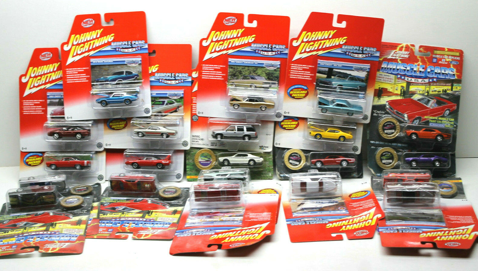 21 Johnny Lightning Muscle Car Lot Dodge+Chevy+Olds Diecast No Two Alike   NOC