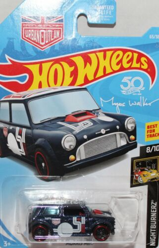 Hotwhels 5 spoke Red line wheels rare long carded Mini cooper S