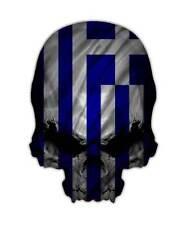Greece Skull Decal - Greek Flag Sticker Graphic