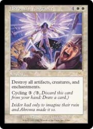 AKROMA/'S VENGEANCE Onslaught MTG White Sorcery RARE