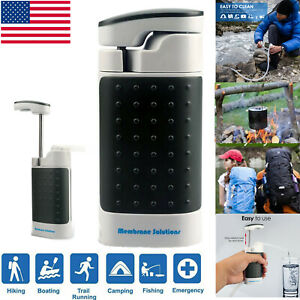 Water Filter Pump Straw Portable Personal Emergency Filtration Purifier 0.1μm