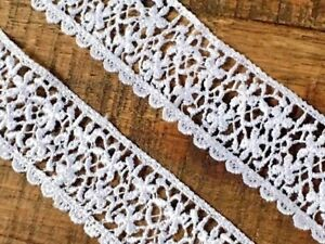 Premium Quality White Guipure Satin Finish Daisy Lace Trimming.Sewing//Crafts