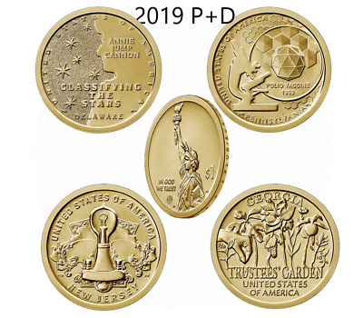 2018 2019 PD Innovation Dollar All 10 Issue BU Set Intro DC DE PA NJ GA Best P D