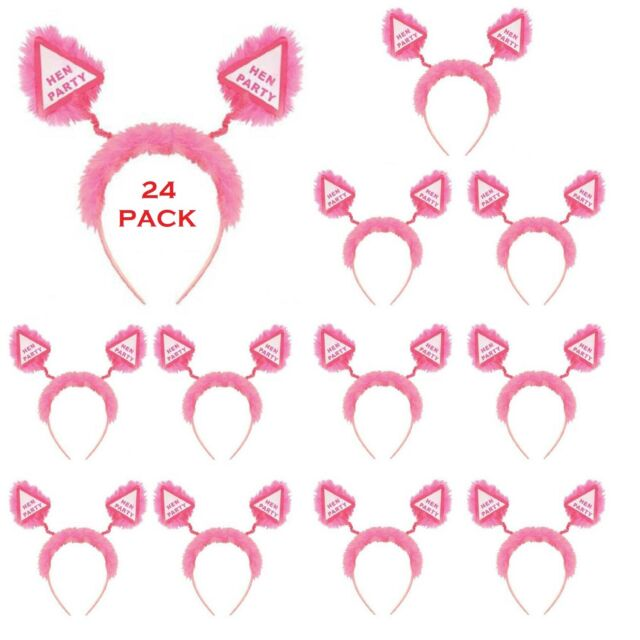 great value x 12 Pcs Hen Party Sashes pink
