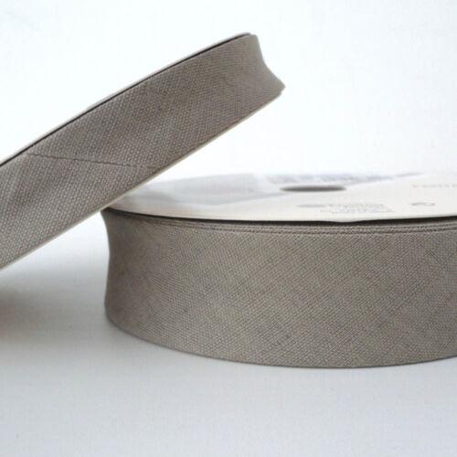 Mink Linen  Bias Binding 18mm Cotton Fabiric Folded Trim