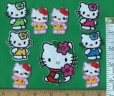 lot of 9 Hello Kitty embroidered iron on patches