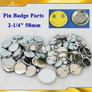 Macchina per spille Press stampo Button Maker Pulsante badge pin vuoto 25mm 2000pcs distintivo Button Parti del pulsante distintivo pin vuoto fai da te Parti del pulsante badge
