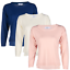 Blu-Cherry-Girls-Women-039-s-Crew-Round-Neck-knitted-Pullover-Jumper-Cashmere-Like thumbnail 4