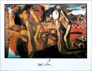 Salvador DALI Metamorphosis of Narcissus Poster 28 x 22