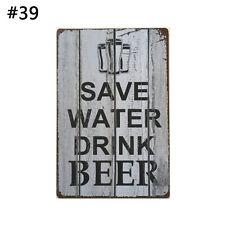 Metal Tin Sign Poster Plaque Bar Pub Club Cafe Home Plate Wall Art Decor #3