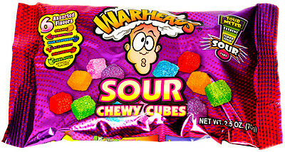Warheads Sour Chewy Cubes 70g Bag from Candy Junction USA IMPORT