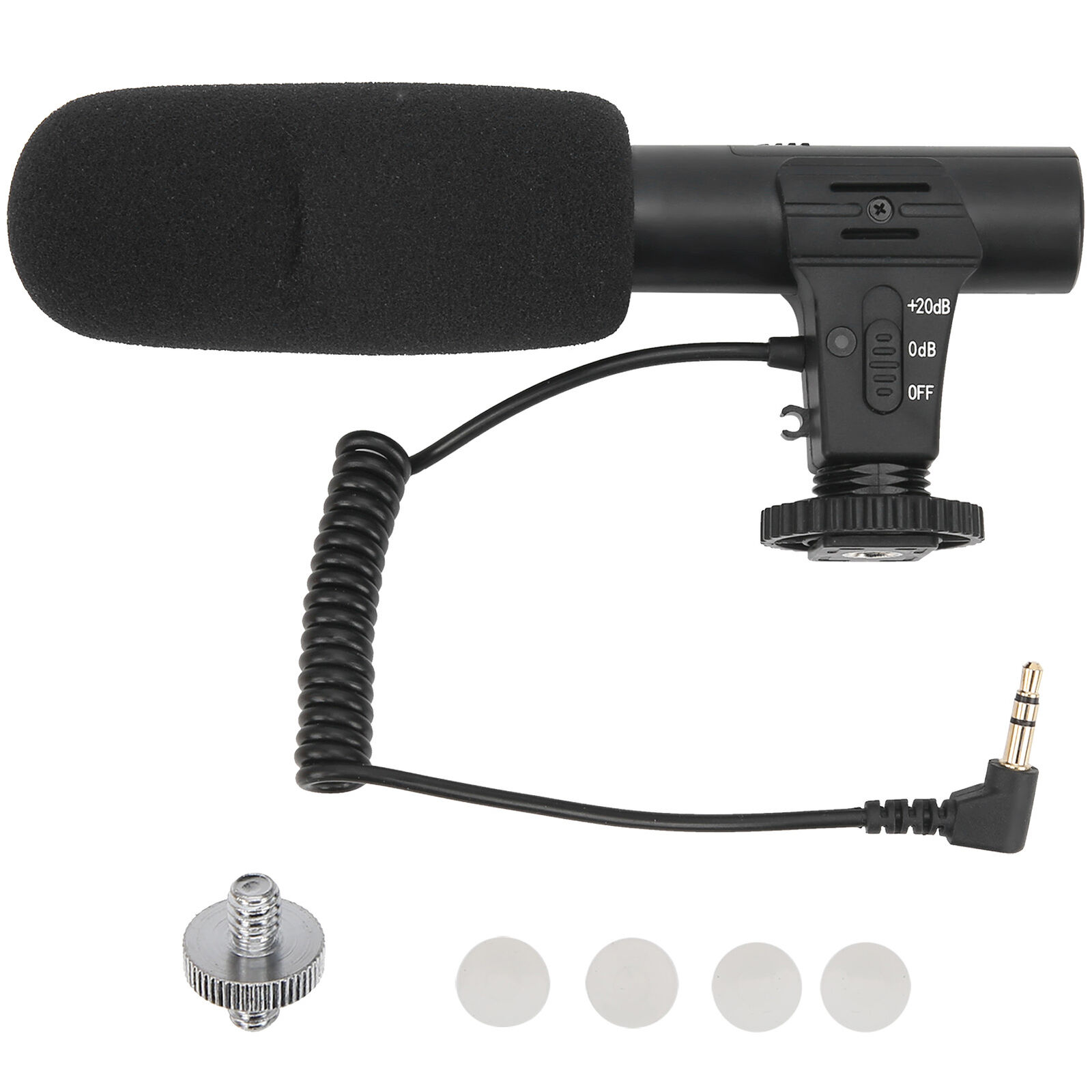 3.5mm Portable Condenser Microphone Cold Shoe 1/4in Screw for DJI OSMO POCKET 2