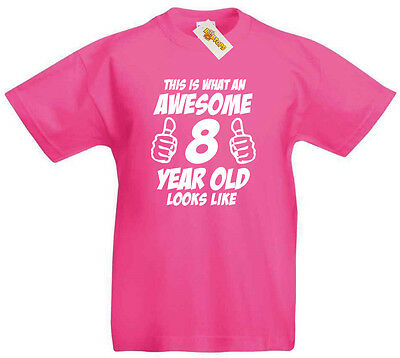 Awesome 8 Year Old T Shirt 8th Birthday Gifts Gift Ideas For Girls