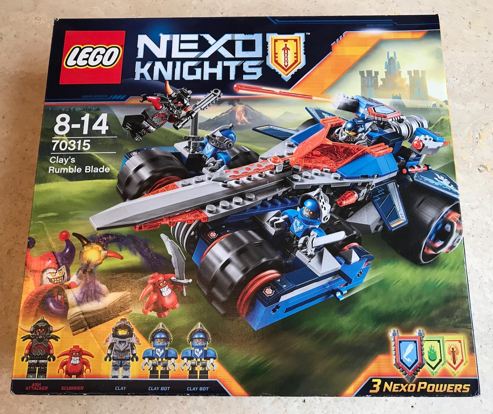 JEU  LEGO NEXO KNIGHTS - L'EPEE RUGISSANTE DE CLAY  - 70315 - RARE