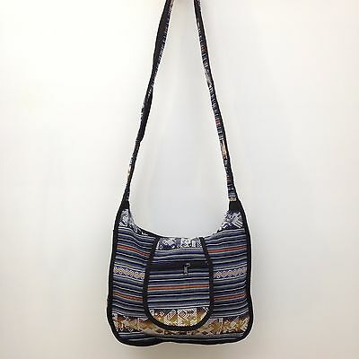 New RASTA Beach Hippie Baja Ethnic Cross Body Messenger bag Made in Mexico R32