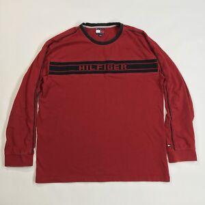 a2ea6a473 Vintage Tommy Hilfiger Long Sleeve Shirt Men's X-Large Red VTG 90s ...